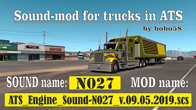 Мод Sound mod for Engine для ATS (1.34.x)