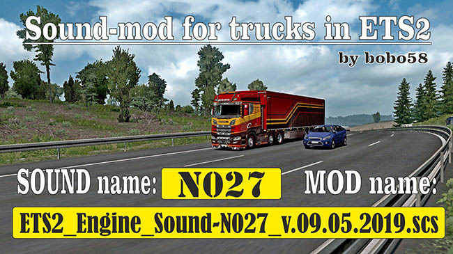 Мод Sound mod for Engine для ETS2 (1.34.x)