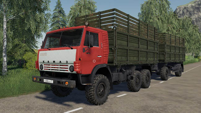 Мод КамАЗ-4310 v1.0 для Farming Simulator 19 (1.3.x)