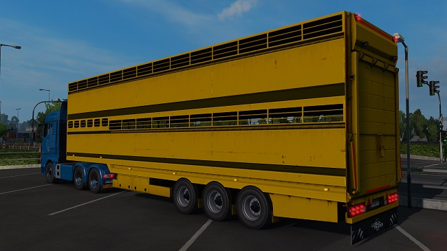 Мод Semi trailer-cattle carrier in ownership для ETS 2 (1.34.x)