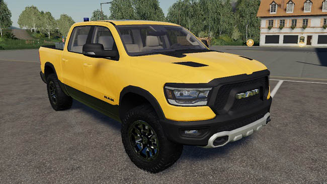 Мод Dodge Ram 1500 blue flashing beacon v1.0 для FS19 (1.3.x)