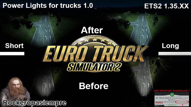 Мод Powerlights for trucks v1.0 для ETS 2 (1.34.x)