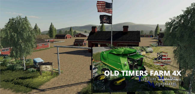 Мод Old Timers farm USA v1.1 для FS19 (1.3.x)