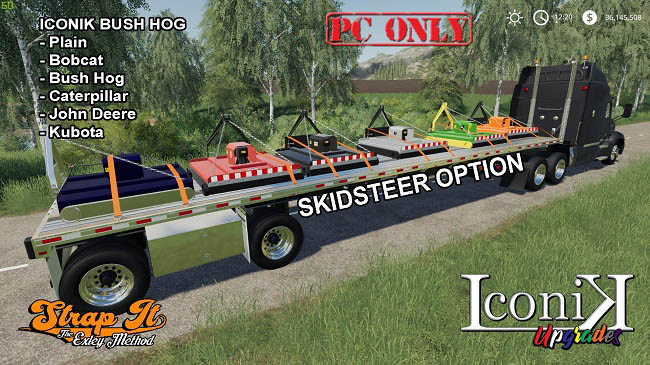 Мод Iconik Bush Hog v1.0.0.0 для FS19 (1.3.x)