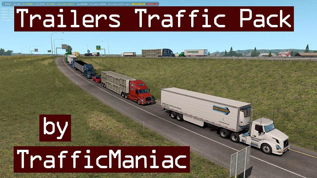Мод Trailers Traffic Pack by TrafficManiac v1.9 для ATS (1.36.x)