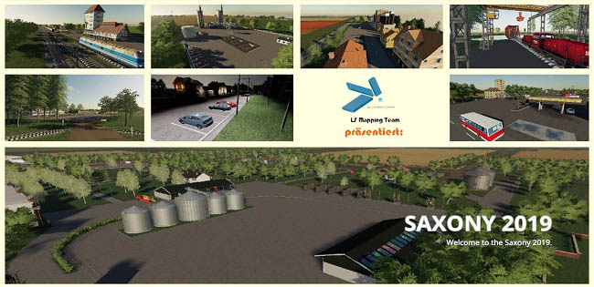 Карта Saxonia v2.3.0 для Farming Simulator 19 (1.5.x)