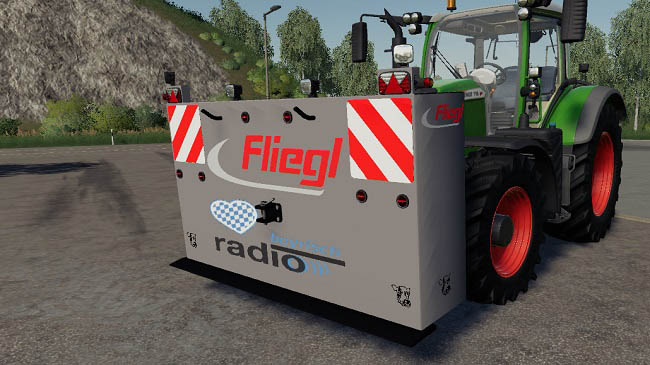 Мод Self-built Weight 4t Tail Weight v1.0.0.0 для FS19 (1.4.x)