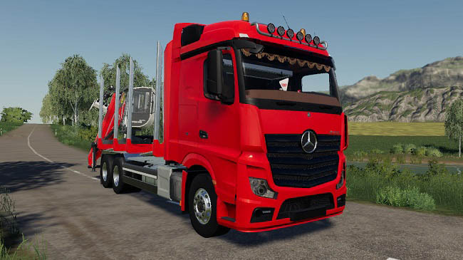 Мод Mercedes Actros 1845 forest truck v1.0 для FS19 (1.4.x)