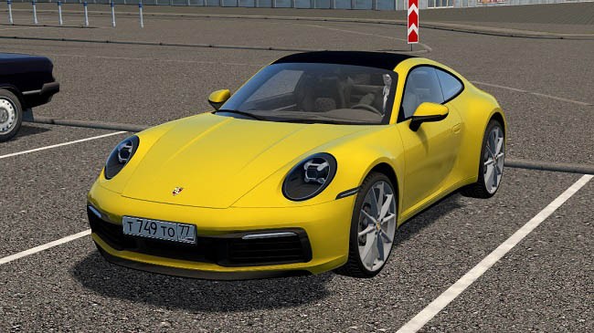 Мод 2019 Porsche 911 Carrera S (992) для City Car Driving (1.5.9)