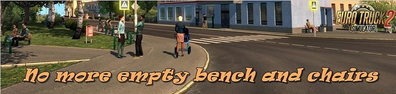 Мод No more empty benches and chairs v1.1 для ETS 2 и ATS (1.35.x)