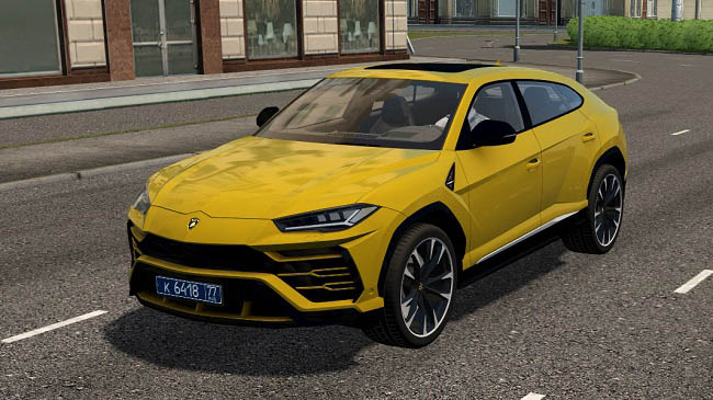 Мод 2019 Lamborghini Urus для City Car Driving (1.5.9)