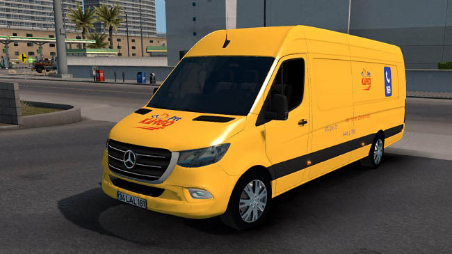 Мод Mercedes-Benz Sprinter 2019 v1.0 для ATS (1.35.x)