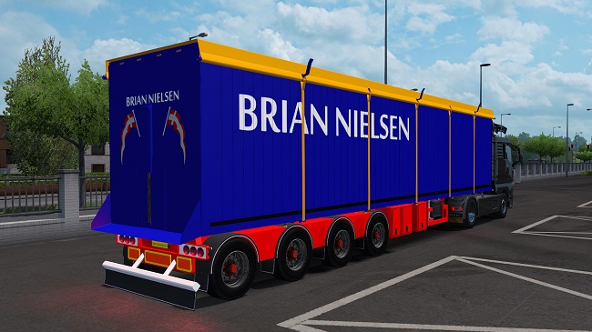 Мод Brian Nielsen 4 axled Trailer для ETS2 (1.35.x)