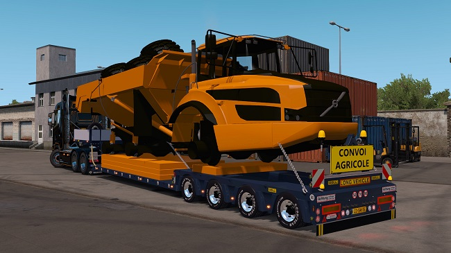 Мод Doll Trailer 4axled With Dumper Orange для ETS 2 (1.35.x)