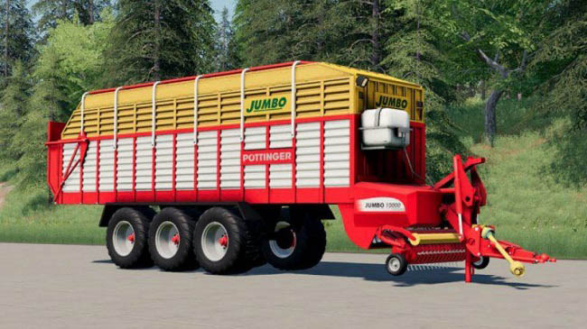 Мод Pottinger Jumbo Loading Wagon (43000 Liters) v1.0.0.0 для FS19 (1.4.x)