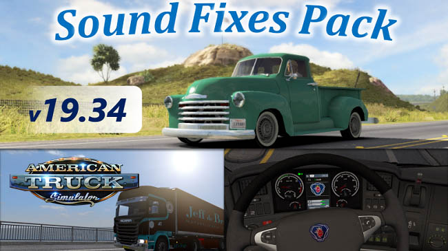 Мод Sound Fixes Pack v19.34 для ATS (1.35.x)