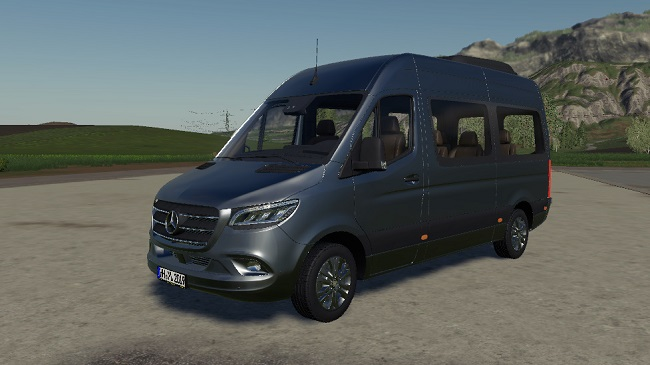 Мод Mercedes-Benz Sprinter 2018 Tourer v1.0 для FS19 (1.4.x)