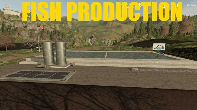 Мод Fish Production v1.0.5 для FS19 (1.4.x)