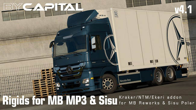 Мод Rigid Chassis for Mercedes Actros MP3 Reworks v4.1.1 для ETS 2 (1.35.x)