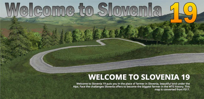 Карта Welcome to Slovenia 19 v0.5 для FS19 (1.4.x)