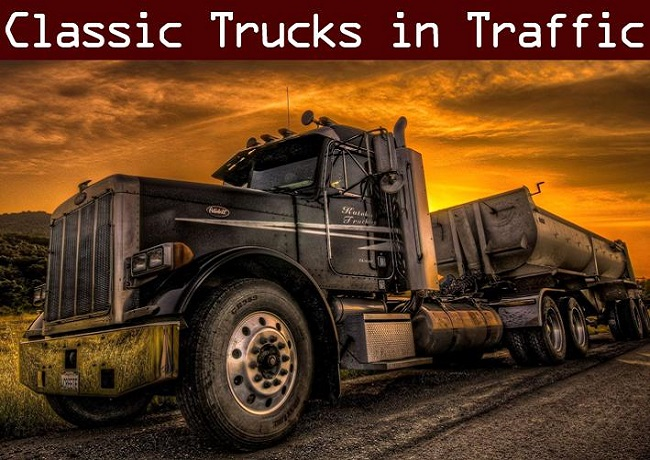 Мод Classic Truck Traffic Pack v1.0 для ATS (1.35.x, 1.36.x)