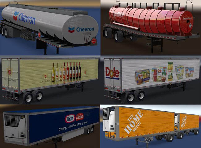 Мод Real Companies and Trailers Pack v1.8 для ATS (1.36.x)