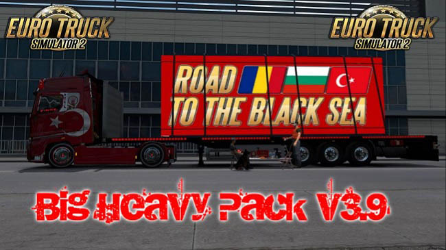 Мод прицепы Big Heavy Pack v4.0 для ETS 2 (1.36.x)