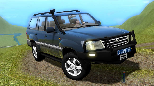 Мод Toyota Land Cruiser 100 для City Car Driving (1.5.9)