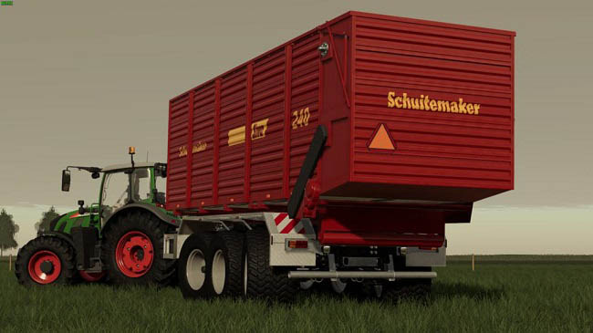 Мод Schuitemaker Siwa 240 Hooklift Silage Container v1.0.0.0 для FS19 (1.5.x)