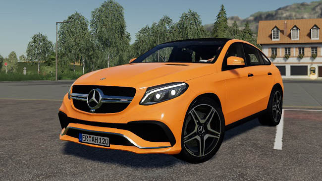 Мод Mercedes-Benz GLE v1.0 для FS19 (1.5.x)