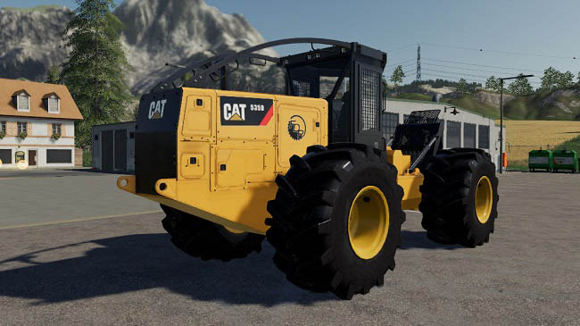 Мод Caterpillar 535D Winch Skidder v1.0 для FS19 (1.5.x)