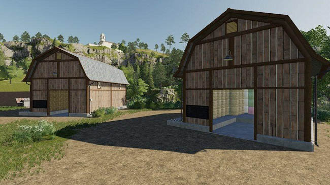 Мод Bale Storage Barns Pack v1.0.0.0 для FS19 (1.5.x)