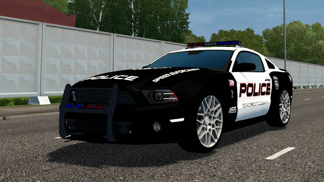 Мод Ford Mustang Shelby GT500 Police для City Car Driving (1.5.9)