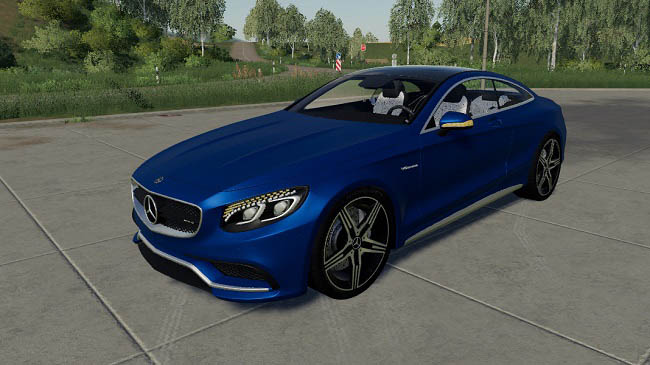Мод Mercedes-Benz S500 Coupe v1.0 для FS19 (1.5.x)